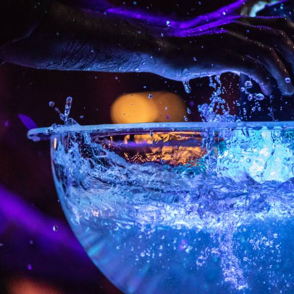 A bowl of water being used at a Breckenridge Music event